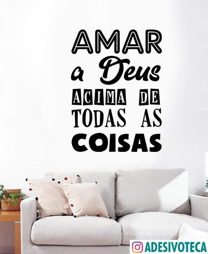 Adesivo Frase Amar A Deus Adesivoteca Quarto Sala Infantil
