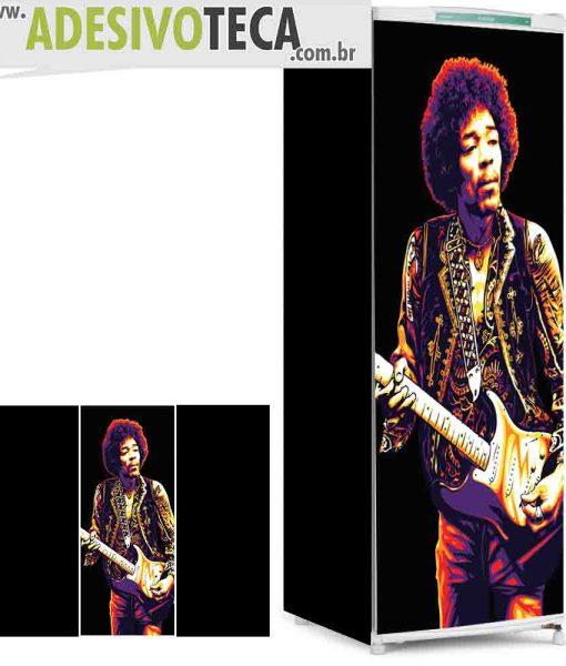 Adesivo Geladeira Jimi Hendrix 02