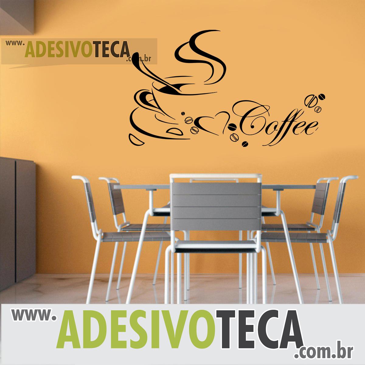 Adesivo de Parede Xicara de Café Adesivoteca Quarto, sala, Infantil