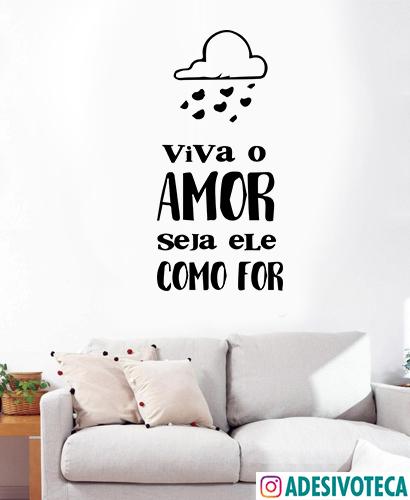 Adesivo frase-Viva o amor T2